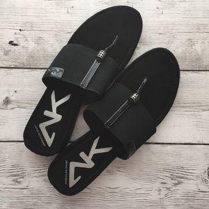 Anne Klein Sport Black Slip-on Sandal Shoe